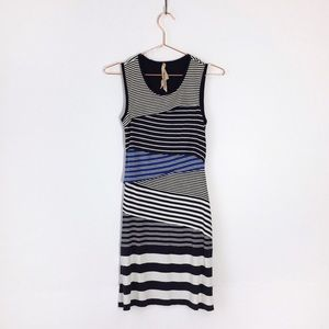 bailey 44 ricochet striped a-line sleeveless dress